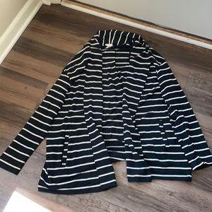 A New Day Striped Sweatshirt Blazer/Cardigan